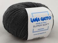Lana Gatto Super Soft (20206 темно-серый меланж) 100% меринос экстрафайн 50 г/125 м
